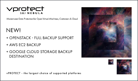 Latest vProtect Release Adds OpenStack support, Updates for RHV/oVirt and Oracle VMs, plus more!